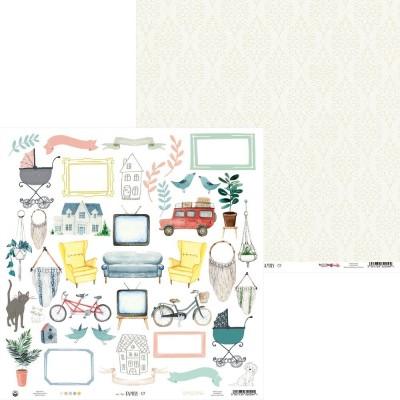 """We Are Family - 12""""-es maxi kollekció (12 db 2 oldalas papír + 2 db kivágóív)"""
