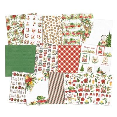 """Christmas Treats - 12""""-es mini kollekció (6 db 2 oldalas papír + 1 db kivágóív)"""
