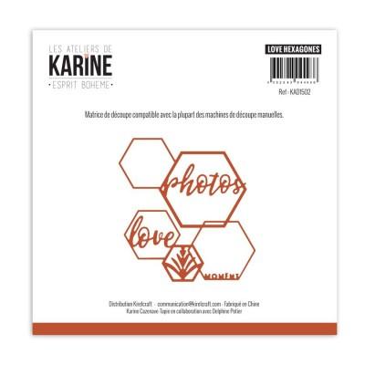 Esprit Bohème Love Hexagones vágókés