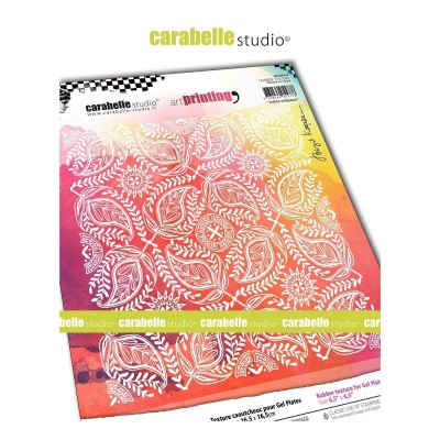 Carabelle Art Printing textúra lemez Gel Press laphoz - Indian Wallpaper