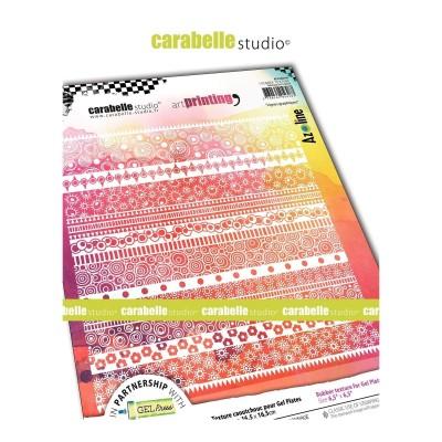 Carabelle Art Printing textúra lemez Gel Press laphoz - Lignes Graphiques