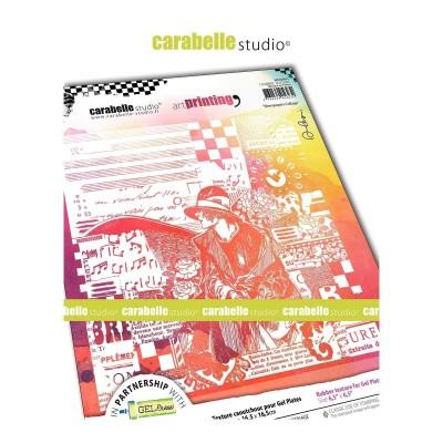 Carabelle Art Printing textúra lemez Gel Press laphoz - Newspapers Collage