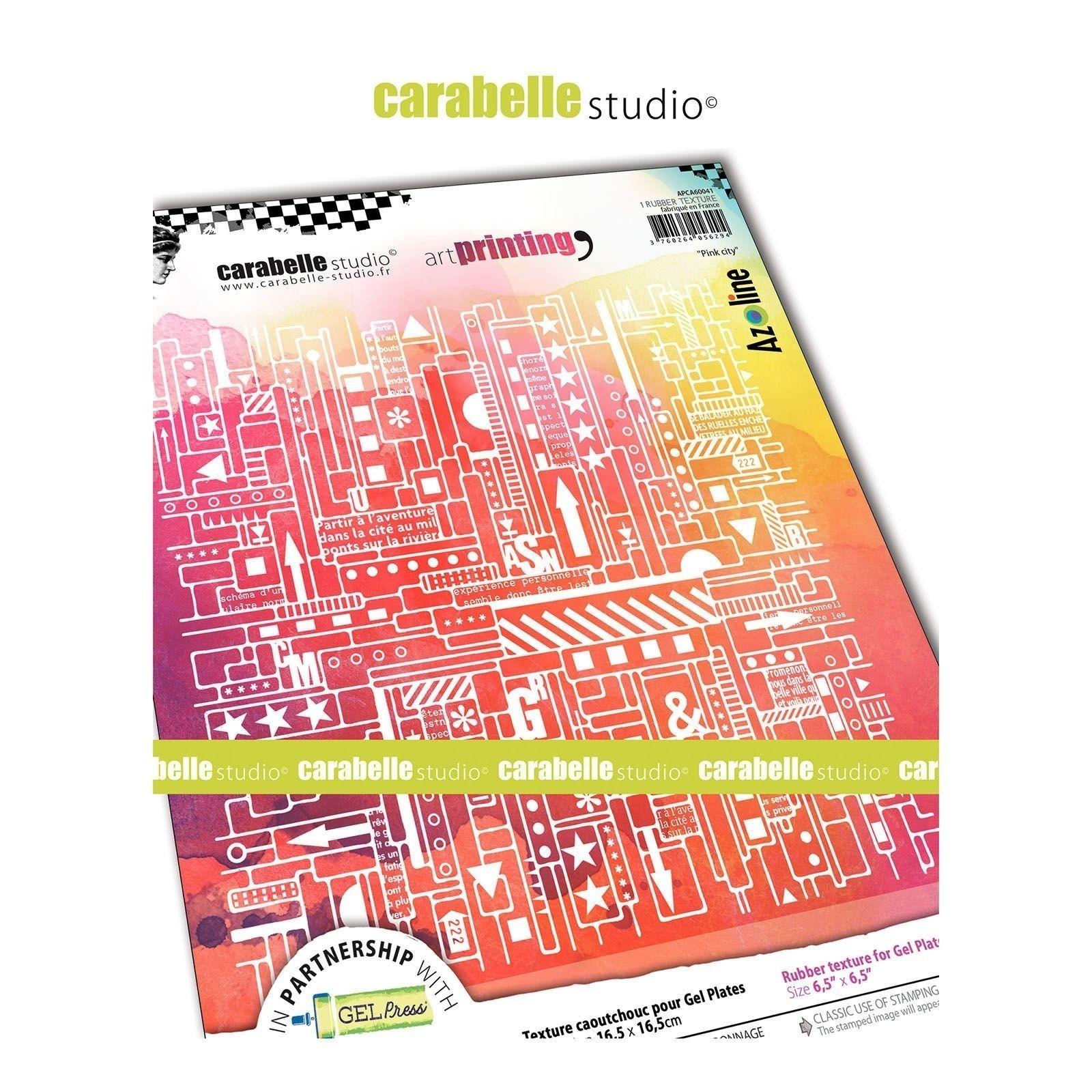 Carabelle Art Printing textúra lemez Gel Press laphoz - Pink City