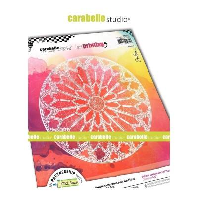 Carabelle Art Printing textúra lemez Gel Press laphoz - Rosace