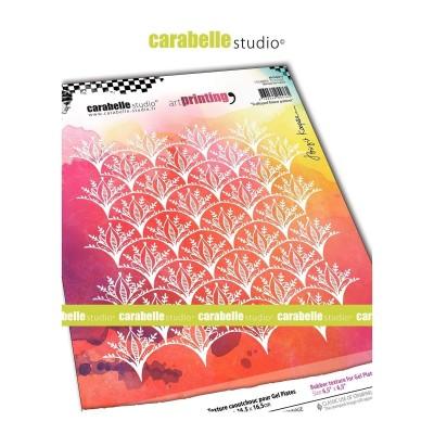 Carabelle Art Printing textúra lemez Gel Press laphoz - Scalloped Flower
