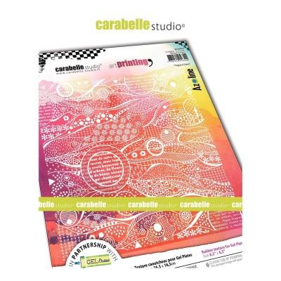 Carabelle Art Printing textúra lemez Gel Press laphoz - Vague a l'ame