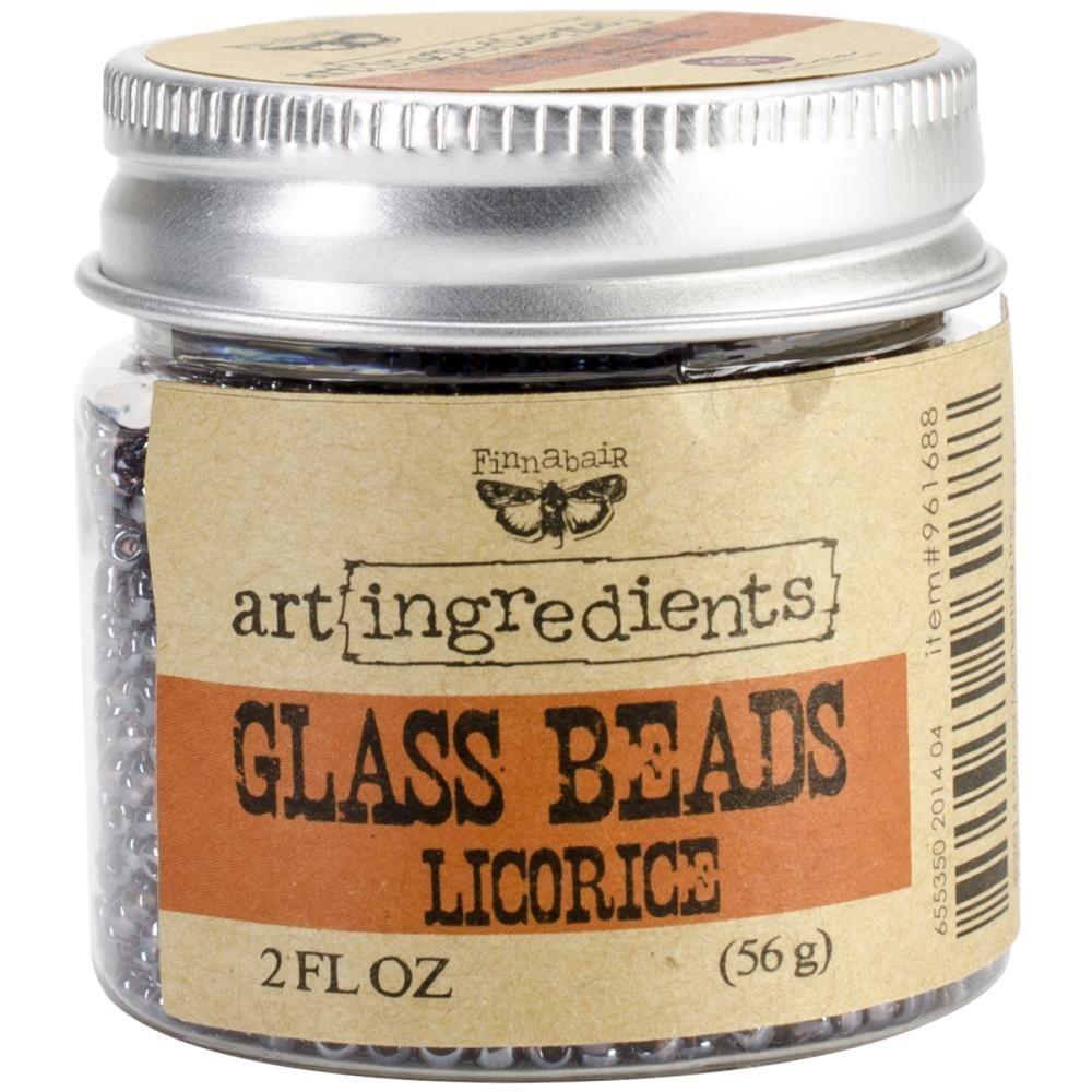 Finnabair - Art Ingredients - Glass Beads - Licorice