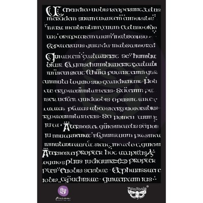 Finnabair - Elementals Stencil - Manuscript