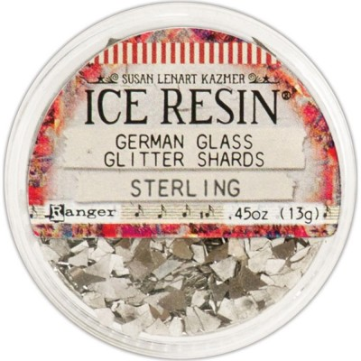 Ice Resin Glass Glitter Shards - Sterling üvegtörmelék
