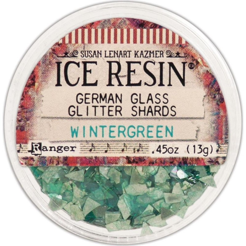 Ice Resin Glass Glitter Shards - Wintergreen üvegtörmelék