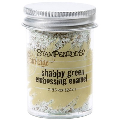 Stampendous Frantage Shabby Embossing Enamel - Green