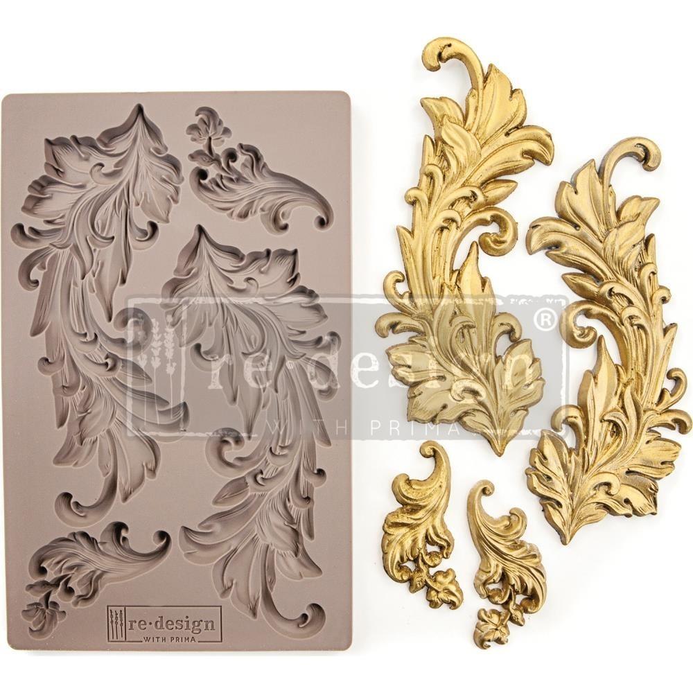 Szilikon öntőforma - Redesign Mould - Baroque Swirls