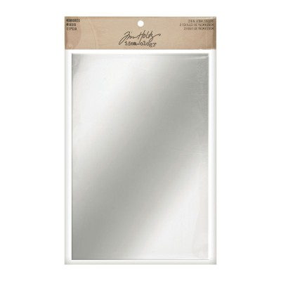 Tim Holtz Idea-Ology Adhesive Mirrored Sheets - tükörmatrica (2 db)