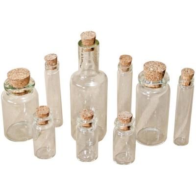Tim Holtz Idea-Ology Corked Glass Vials (9 db)
