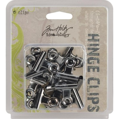 Tim Holtz Idea-Ology Metal Hinge Clips (15 db)