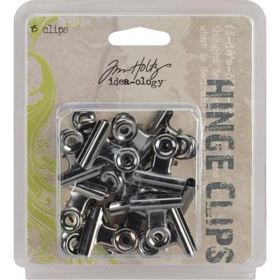Tim Holtz Idea-Ology Metal Hinge Clips (15 db)