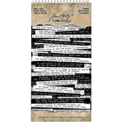 Tim Holtz Idea-Ology Spiral Bound Sticker Book, Snarky matrica szett