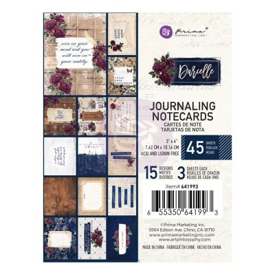 Prima Marketing Darcelle kollekció 3X4 Journaling Cards