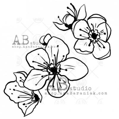 """Gumibélyegző ID-498 """"flower"""""""