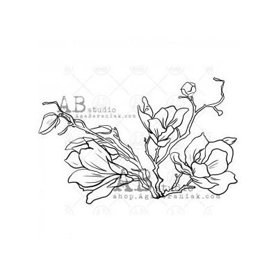 """Gumibélyegző ID-503 """"flower"""""""