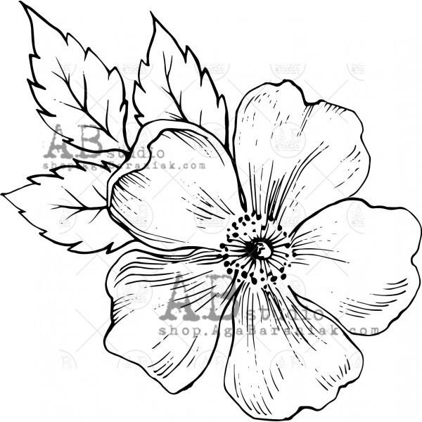 """Gumibélyegző ID-528 """"flower"""""""