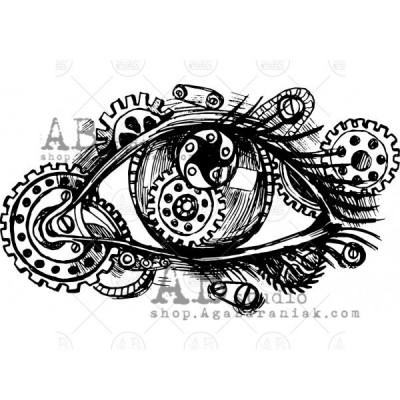 "Gumibélyegző ID-535 ""steampunk eye"""