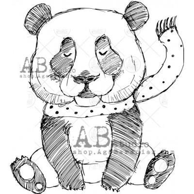"Gumibélyegző ID-574 ""Christmas panda"""