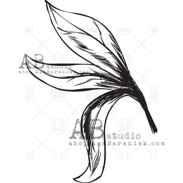 """Gumibélyegző ID-605 """"leaf"""""""