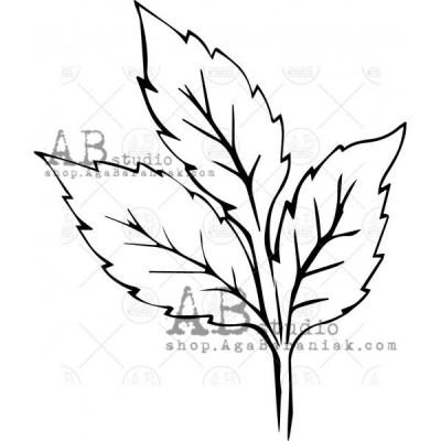"""Gumibélyegző ID-604 """"leaf"""""""