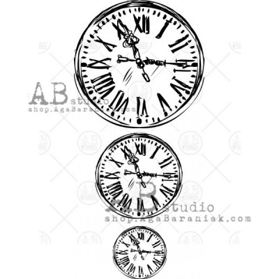 "Gumibélyegző ID-452 ""vintage clocks"""