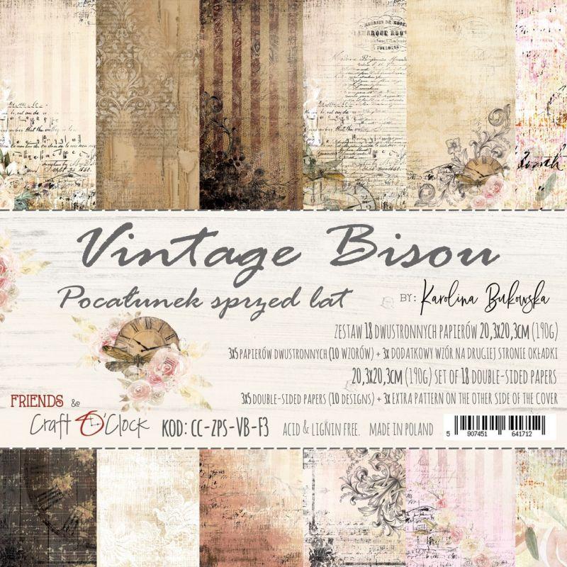 Vintage Bisou - papírkészlet 20,3x20,3cm
