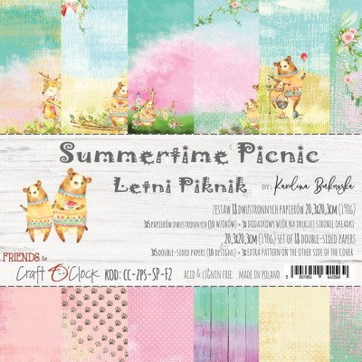 Summertime Picnic - papírkészlet 20,3x20,3cm