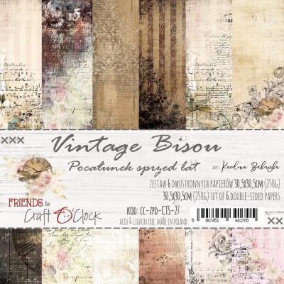 Vintage Bisou - papírkészlet 30,5x30,5cm