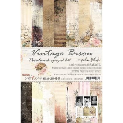 Vintage Bisou - papírkészlet 20,3x30,5cm