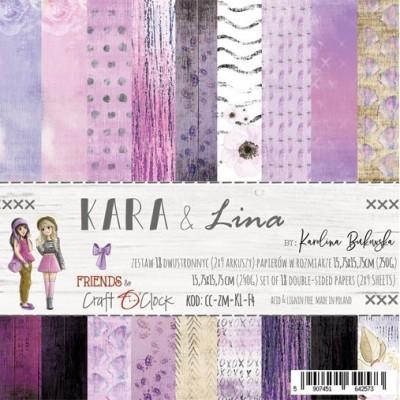 Kara and Lina - papírkészlet 15,25x15,25cm