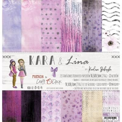 Kara and Lina - papírkészlet 30,5x30,5cm