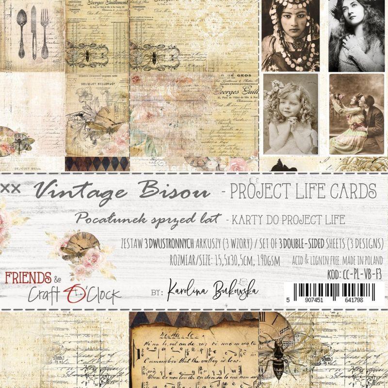 Vintage Bisou - Project Life kártyák