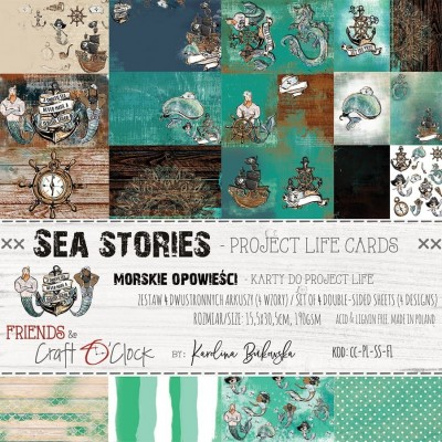 Sea Stories - Project Life kártyák