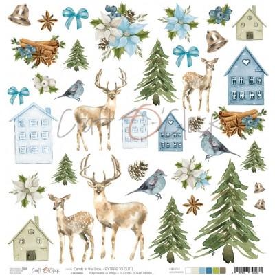 Carols in the Snow - I - kivágóív - csillámos