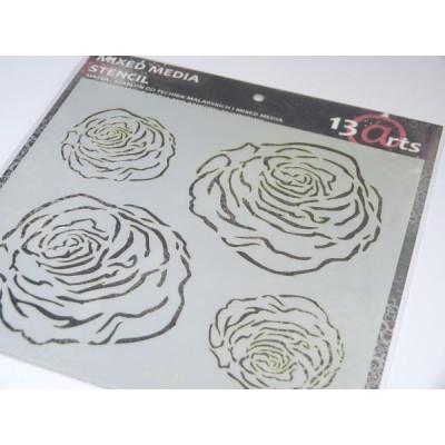 Roses stencil