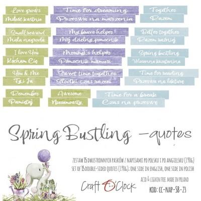 Spring Bustling - szöveges kivágóív