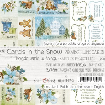 Carols in the Snow - Project Life kártyák