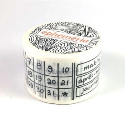 Calendrier permanent washi tape - dekortapasz
