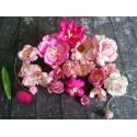 Rózsaszínű papír virágok - 20 db