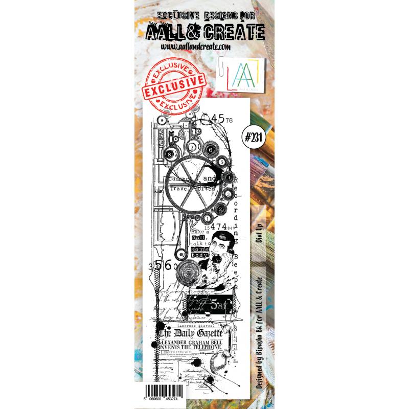 AALL and Create bordűr bélyegző no.231