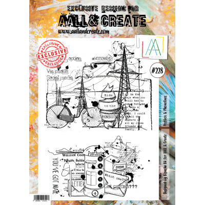 AALL and Create A4-es bélyegző no.228