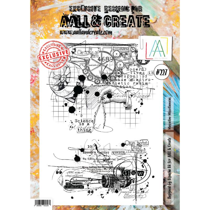 AALL and Create A4-es bélyegző no.227