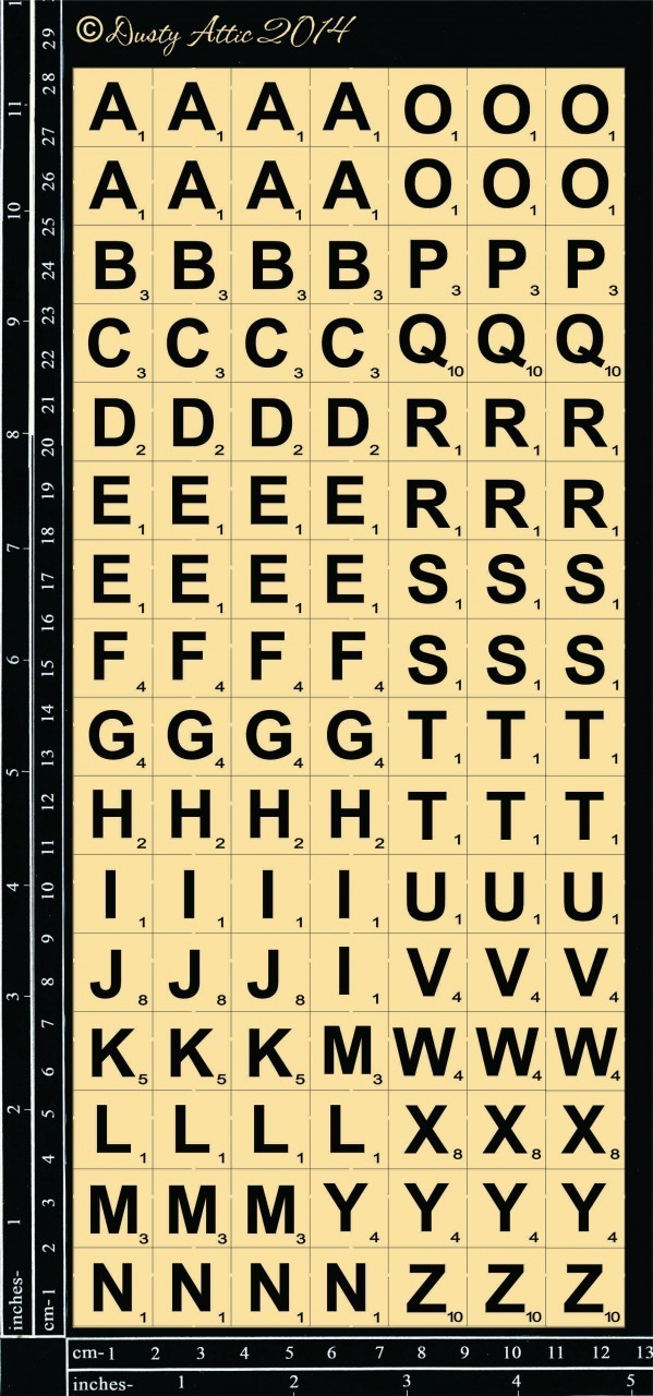 mini ABC Tile Set
