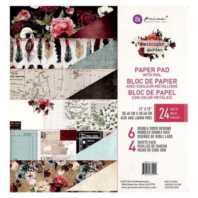 """Prima Marketing - Midnight Garden kollekció - 12""""x12"""" maxi papírkollekció"""