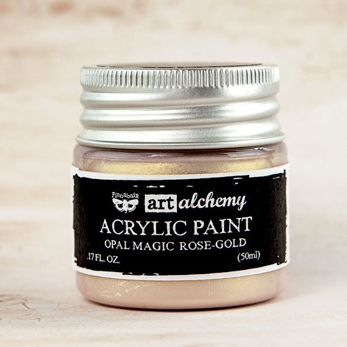 Finnabair - Art Alchemy - Opal Magic Acrylic Paint - Rose Gold